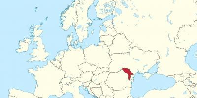 Moldavien Map Kartor Moldavien Ostra Europa Europa
